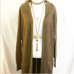 Evolving Always Sweaters - Comfortable Boho Hoodie Cardigan Stone Color